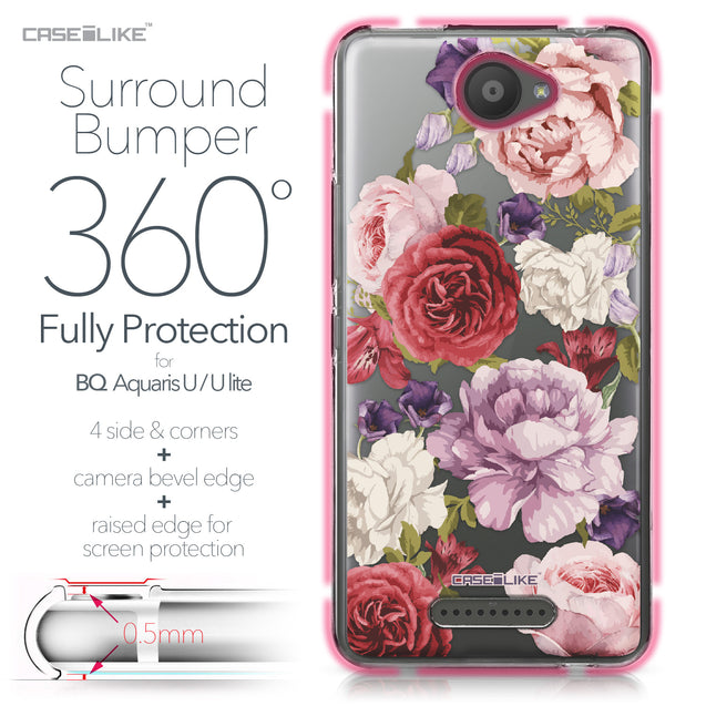 BQ Aquaris U / U Lite case Mixed Roses 2259 Bumper Case Protection | CASEiLIKE.com