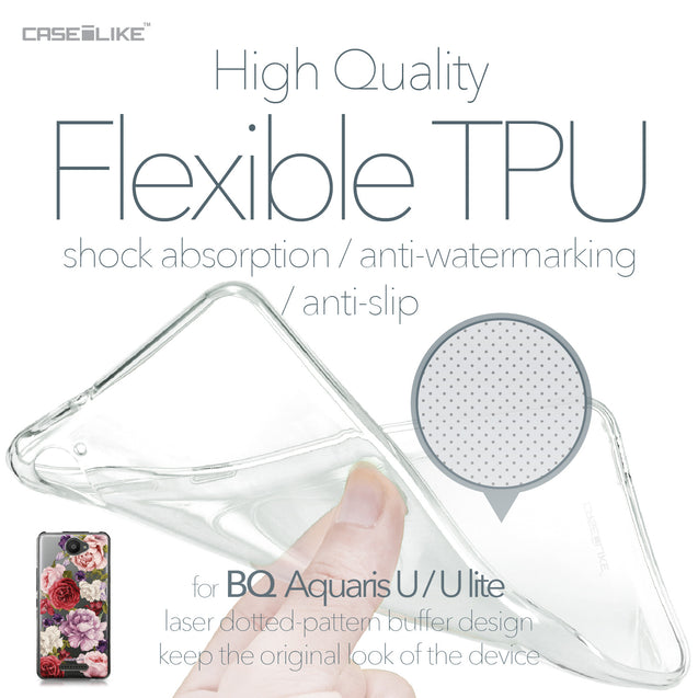 BQ Aquaris U / U Lite case Mixed Roses 2259 Soft Gel Silicone Case | CASEiLIKE.com