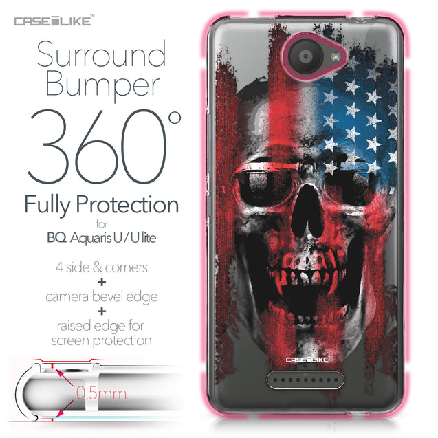 BQ Aquaris U / U Lite case Art of Skull 2532 Bumper Case Protection | CASEiLIKE.com