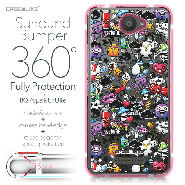 BQ Aquaris U / U Lite case Graffiti 2703 Bumper Case Protection | CASEiLIKE.com