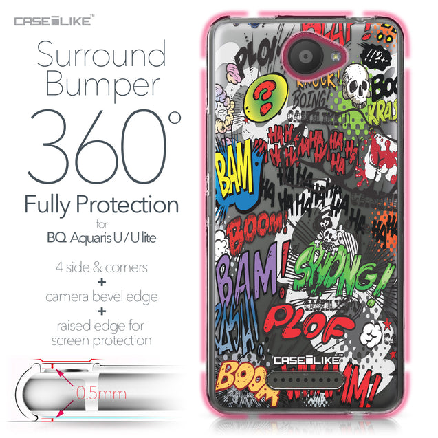 BQ Aquaris U / U Lite case Comic Captions 2914 Bumper Case Protection | CASEiLIKE.com