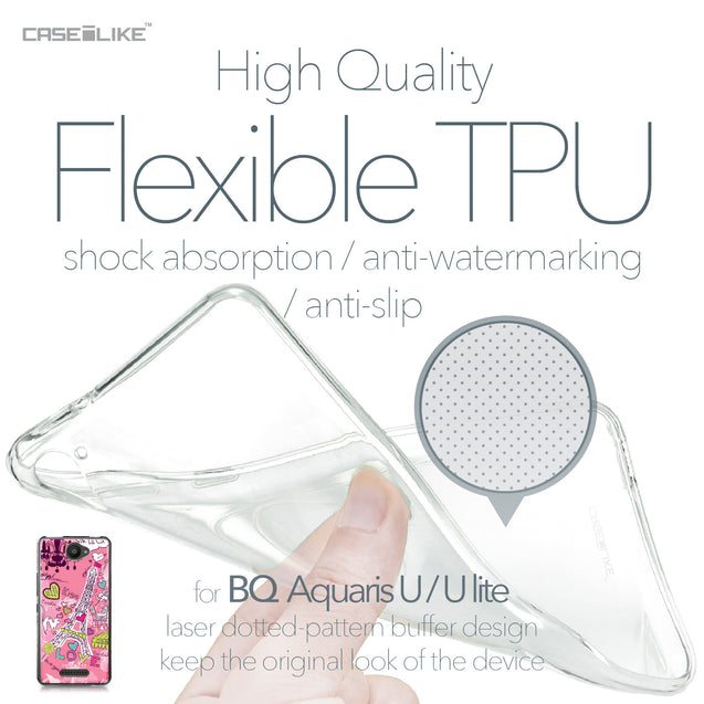 BQ Aquaris U / U Lite case Paris Holiday 3905 Soft Gel Silicone Case | CASEiLIKE.com