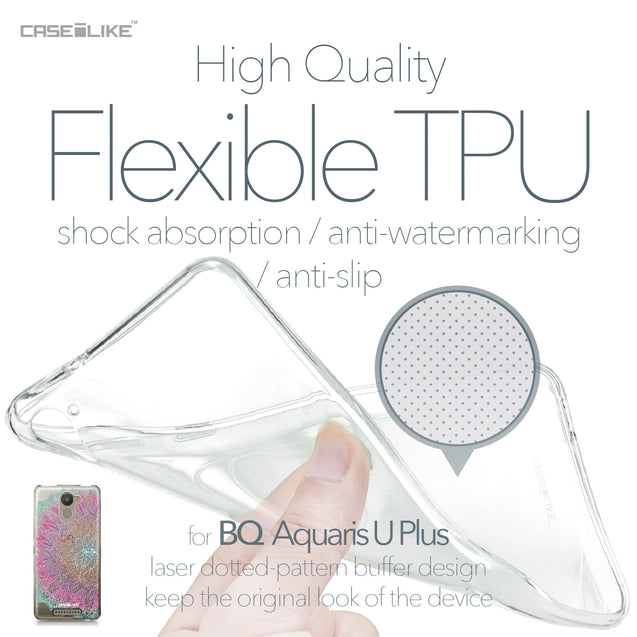 BQ Aquaris U Plus case Mandala Art 2090 Soft Gel Silicone Case | CASEiLIKE.com