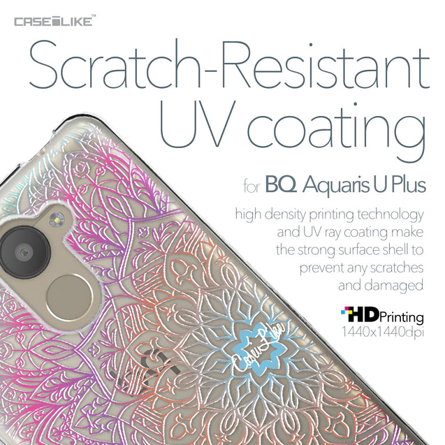 BQ Aquaris U Plus case Mandala Art 2090 with UV-Coating Scratch-Resistant Case | CASEiLIKE.com