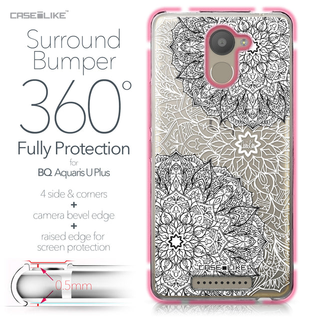 BQ Aquaris U Plus case Mandala Art 2093 Bumper Case Protection | CASEiLIKE.com