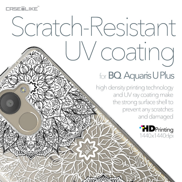 BQ Aquaris U Plus case Mandala Art 2093 with UV-Coating Scratch-Resistant Case | CASEiLIKE.com