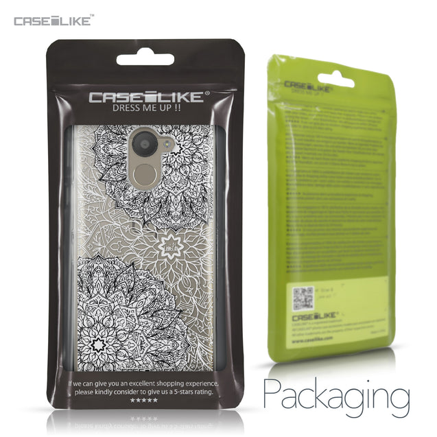 BQ Aquaris U Plus case Mandala Art 2093 Retail Packaging | CASEiLIKE.com