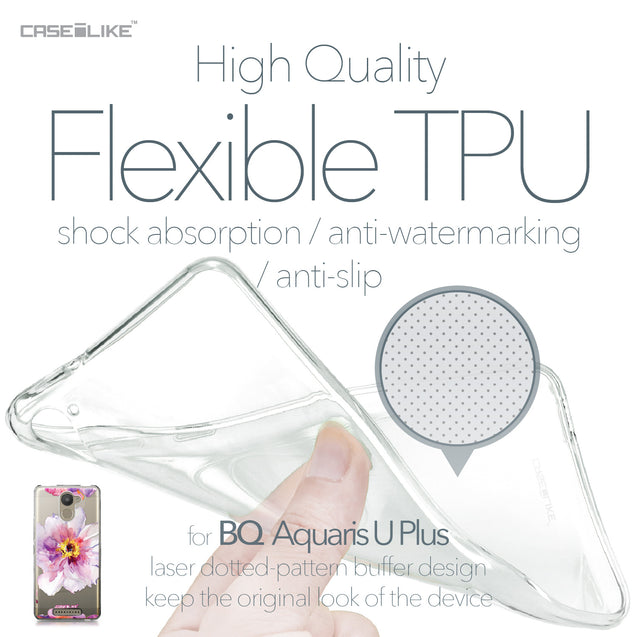 BQ Aquaris U Plus case Watercolor Floral 2231 Soft Gel Silicone Case | CASEiLIKE.com
