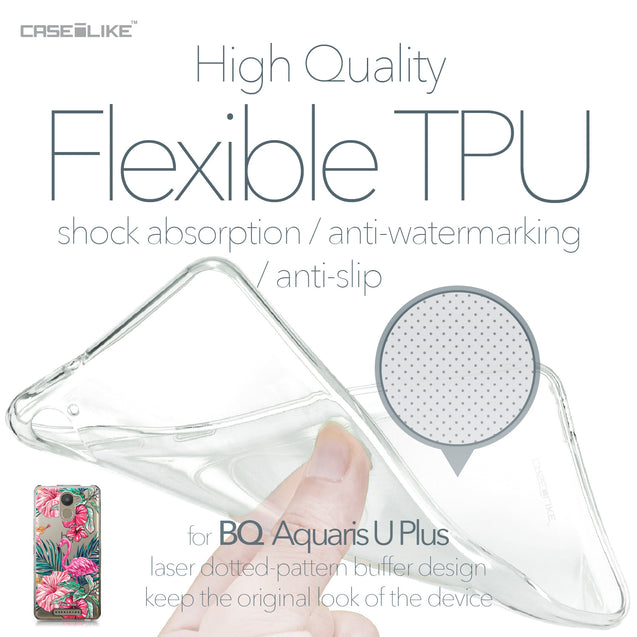 BQ Aquaris U Plus case Tropical Flamingo 2239 Soft Gel Silicone Case | CASEiLIKE.com