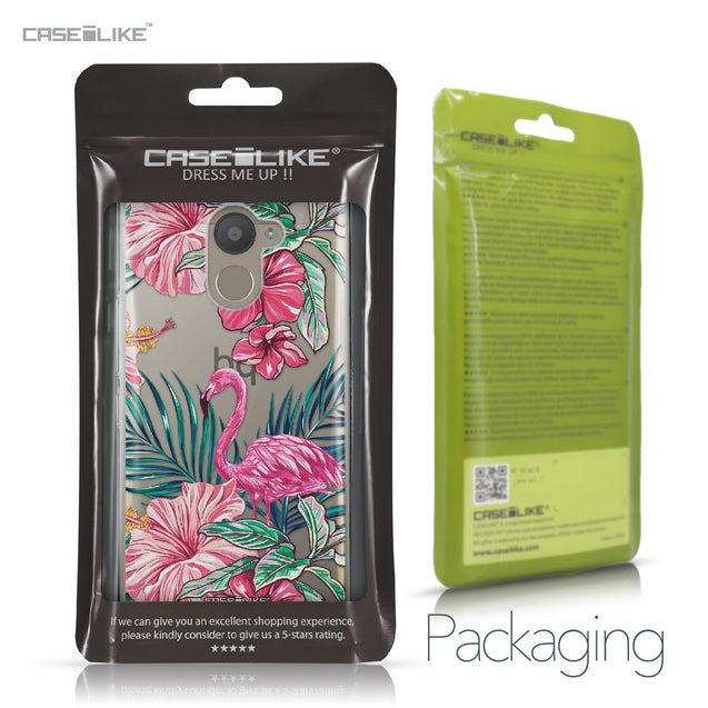 BQ Aquaris U Plus case Tropical Flamingo 2239 Retail Packaging | CASEiLIKE.com