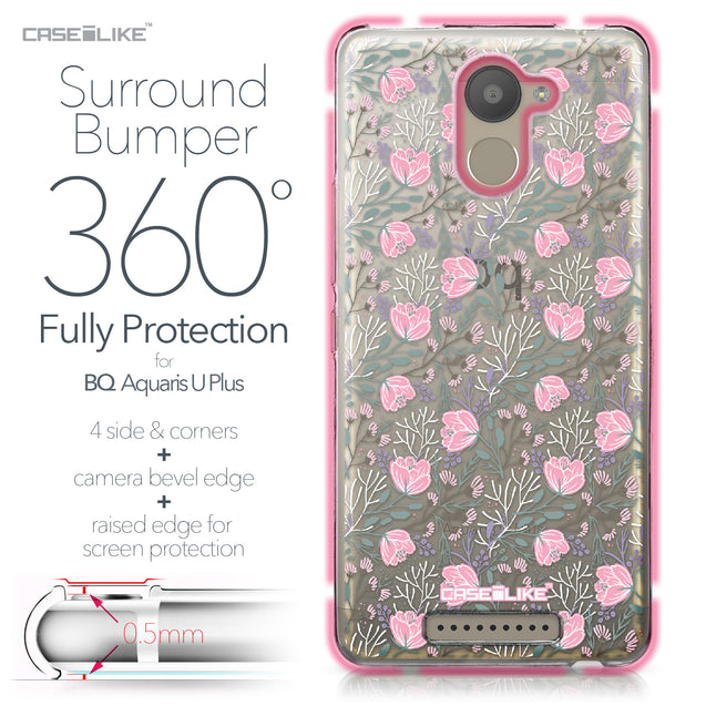 BQ Aquaris U Plus case Flowers Herbs 2246 Bumper Case Protection | CASEiLIKE.com
