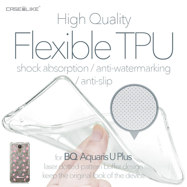 BQ Aquaris U Plus case Flowers Herbs 2246 Soft Gel Silicone Case | CASEiLIKE.com