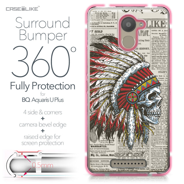 BQ Aquaris U Plus case Art of Skull 2522 Bumper Case Protection | CASEiLIKE.com