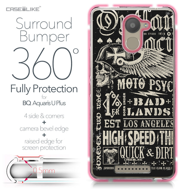 BQ Aquaris U Plus case Art of Skull 2531 Bumper Case Protection | CASEiLIKE.com