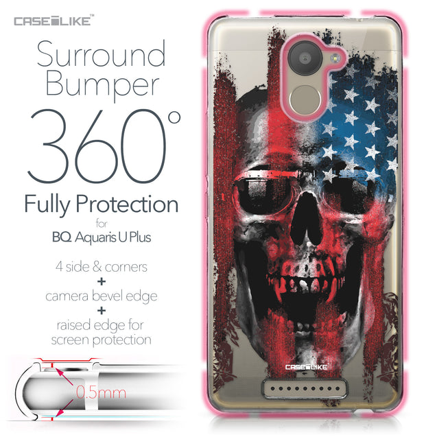 BQ Aquaris U Plus case Art of Skull 2532 Bumper Case Protection | CASEiLIKE.com