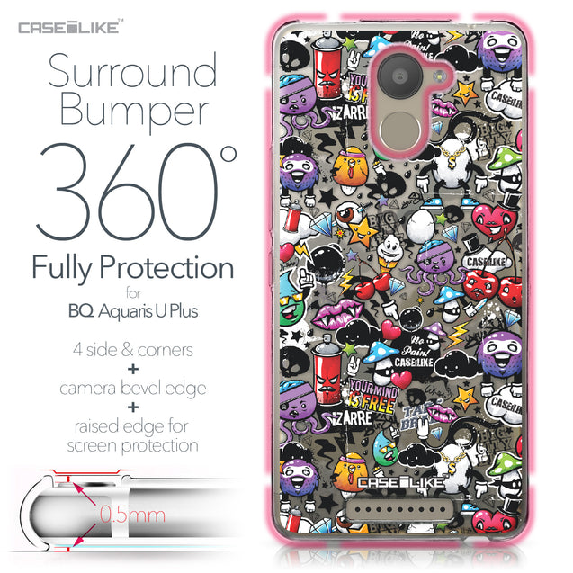 BQ Aquaris U Plus case Graffiti 2703 Bumper Case Protection | CASEiLIKE.com