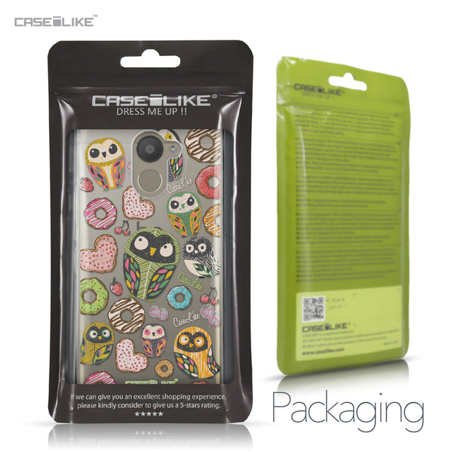 BQ Aquaris U Plus case Owl Graphic Design 3315 Retail Packaging | CASEiLIKE.com