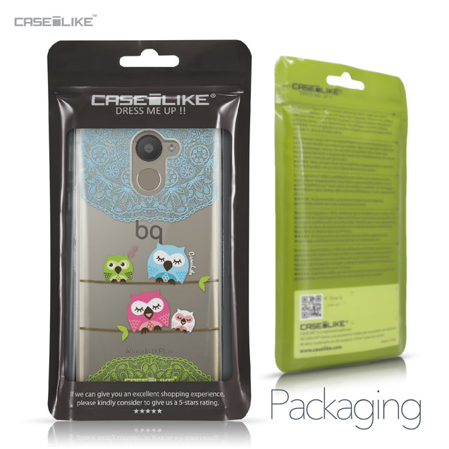 BQ Aquaris U Plus case Owl Graphic Design 3318 Retail Packaging | CASEiLIKE.com