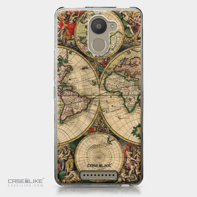 BQ Aquaris U Plus case World Map Vintage 4607 | CASEiLIKE.com