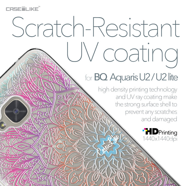 BQ Aquaris U2 / U2 Lite case Mandala Art 2090 with UV-Coating Scratch-Resistant Case | CASEiLIKE.com