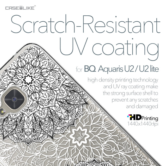 BQ Aquaris U2 / U2 Lite case Mandala Art 2093 with UV-Coating Scratch-Resistant Case | CASEiLIKE.com