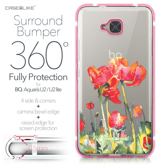 BQ Aquaris U2 / U2 Lite case Watercolor Floral 2230 Bumper Case Protection | CASEiLIKE.com