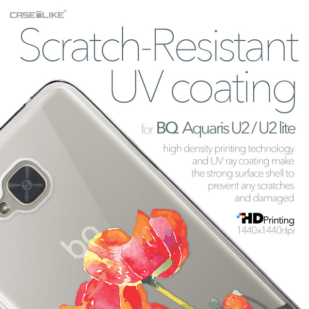 BQ Aquaris U2 / U2 Lite case Watercolor Floral 2230 with UV-Coating Scratch-Resistant Case | CASEiLIKE.com