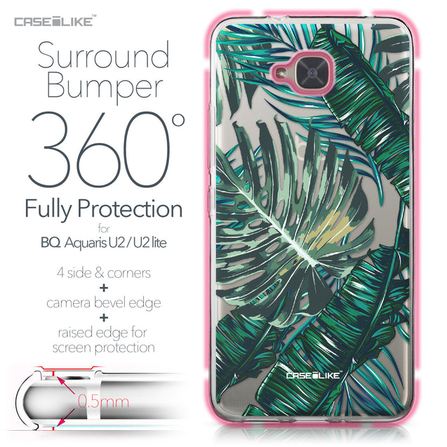 BQ Aquaris U2 / U2 Lite case Tropical Palm Tree 2238 Bumper Case Protection | CASEiLIKE.com