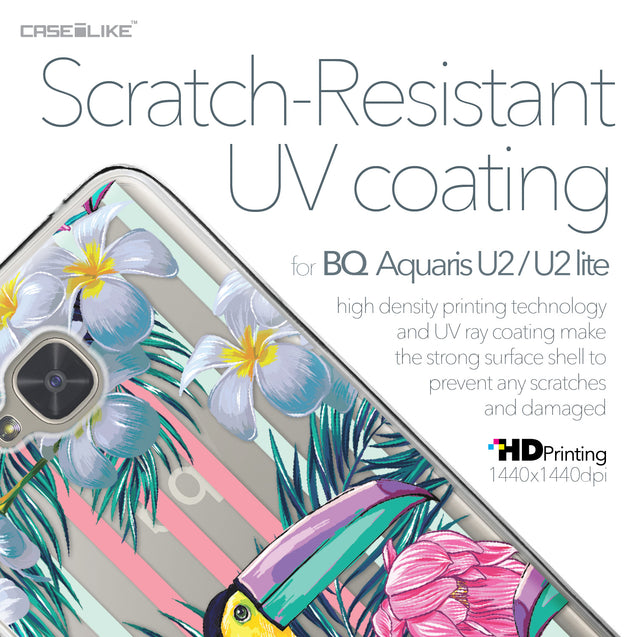 BQ Aquaris U2 / U2 Lite case Tropical Floral 2240 with UV-Coating Scratch-Resistant Case | CASEiLIKE.com