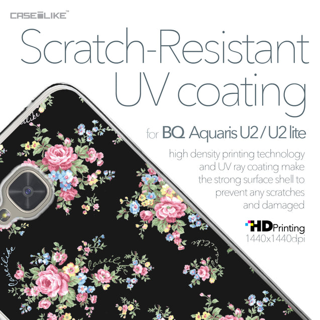 BQ Aquaris U2 / U2 Lite case Floral Rose Classic 2261 with UV-Coating Scratch-Resistant Case | CASEiLIKE.com