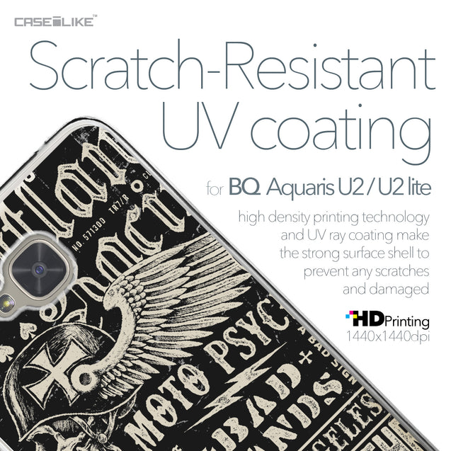 BQ Aquaris U2 / U2 Lite case Art of Skull 2531 with UV-Coating Scratch-Resistant Case | CASEiLIKE.com