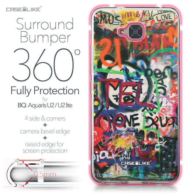 BQ Aquaris U2 / U2 Lite case Graffiti 2721 Bumper Case Protection | CASEiLIKE.com
