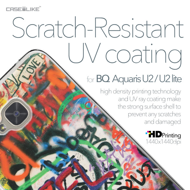 BQ Aquaris U2 / U2 Lite case Graffiti 2721 with UV-Coating Scratch-Resistant Case | CASEiLIKE.com