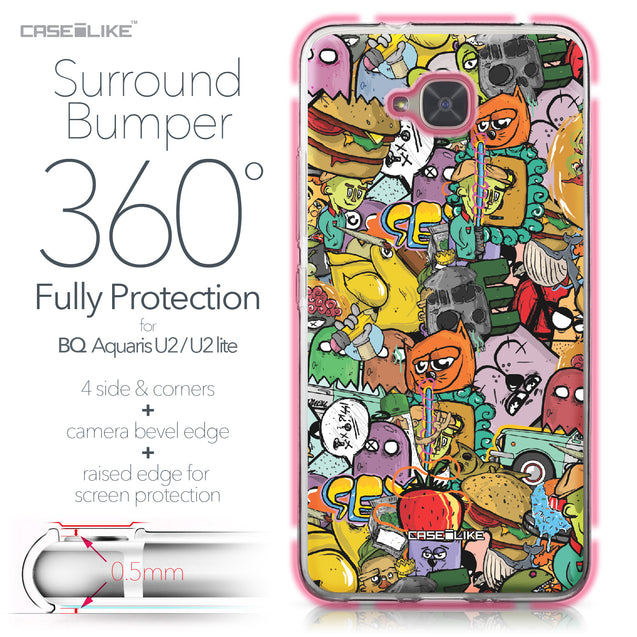BQ Aquaris U2 / U2 Lite case Graffiti 2731 Bumper Case Protection | CASEiLIKE.com