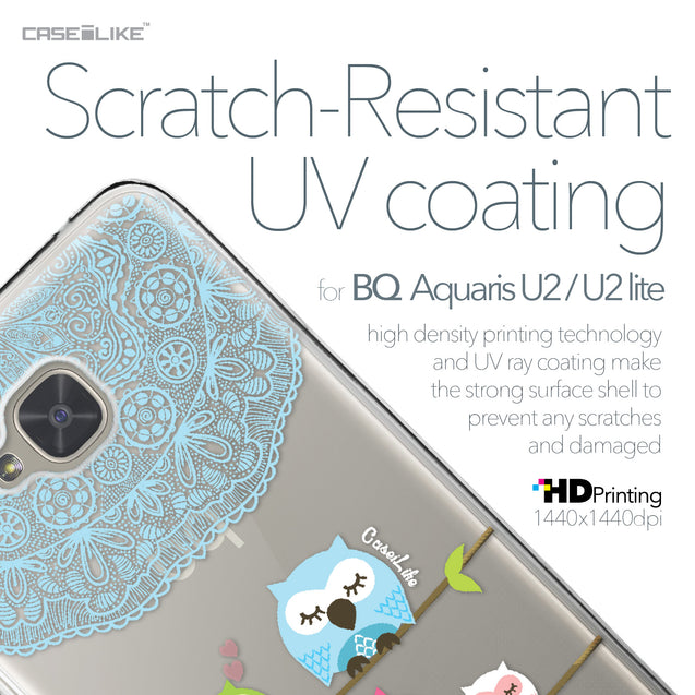 BQ Aquaris U2 / U2 Lite case Owl Graphic Design 3318 with UV-Coating Scratch-Resistant Case | CASEiLIKE.com