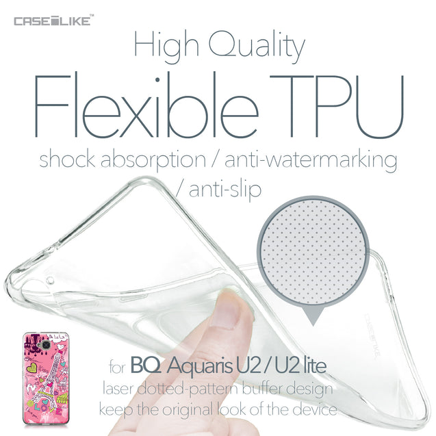 BQ Aquaris U2 / U2 Lite case Paris Holiday 3905 Soft Gel Silicone Case | CASEiLIKE.com