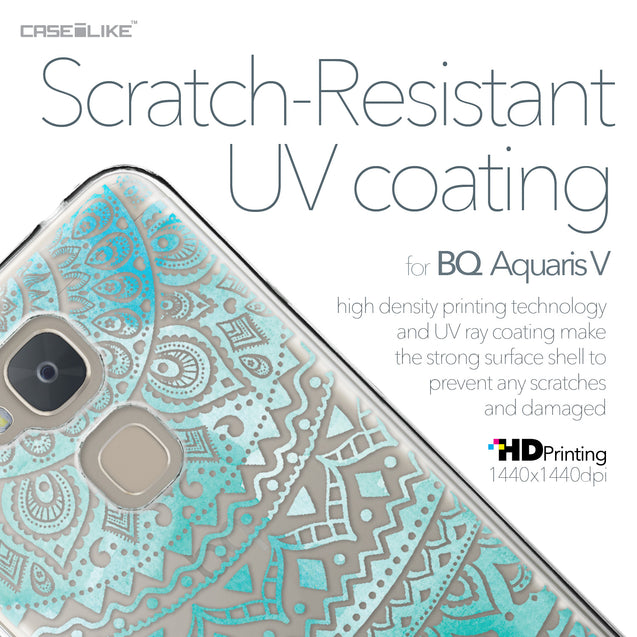 BQ Aquaris V case Indian Line Art 2066 with UV-Coating Scratch-Resistant Case | CASEiLIKE.com