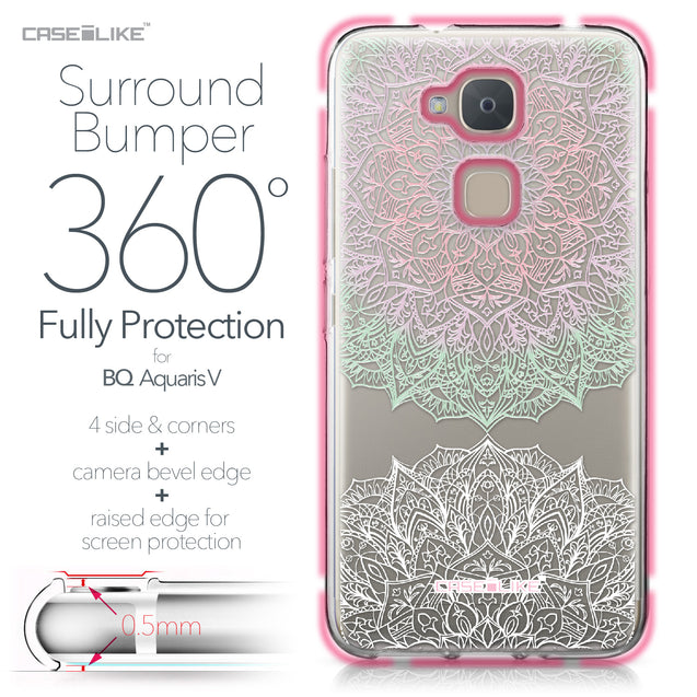 BQ Aquaris V case Mandala Art 2092 Bumper Case Protection | CASEiLIKE.com