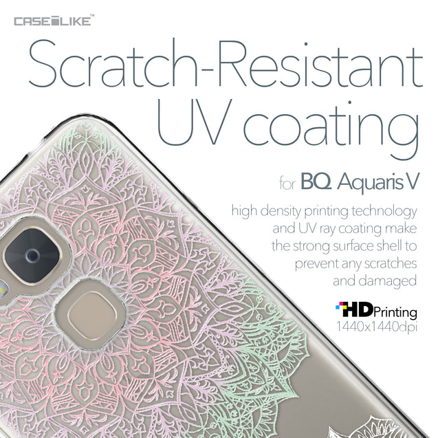 BQ Aquaris V case Mandala Art 2092 with UV-Coating Scratch-Resistant Case | CASEiLIKE.com