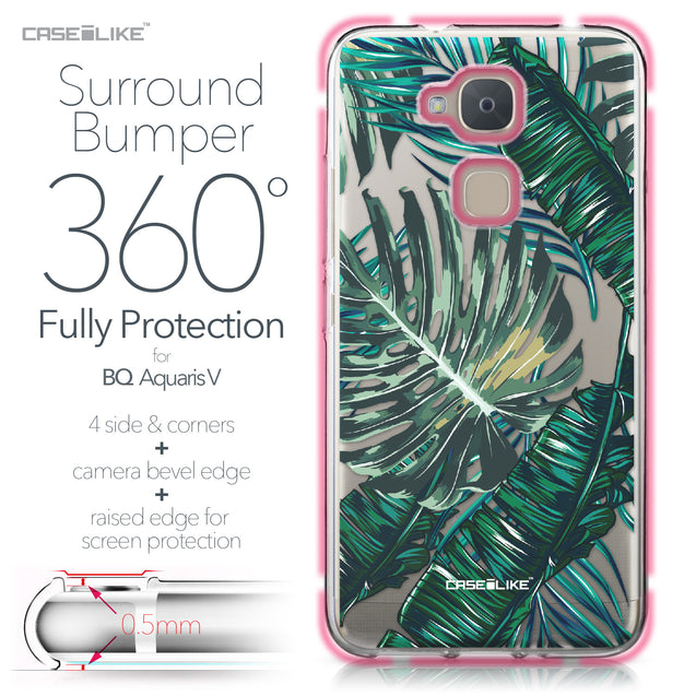 BQ Aquaris V case Tropical Palm Tree 2238 Bumper Case Protection | CASEiLIKE.com