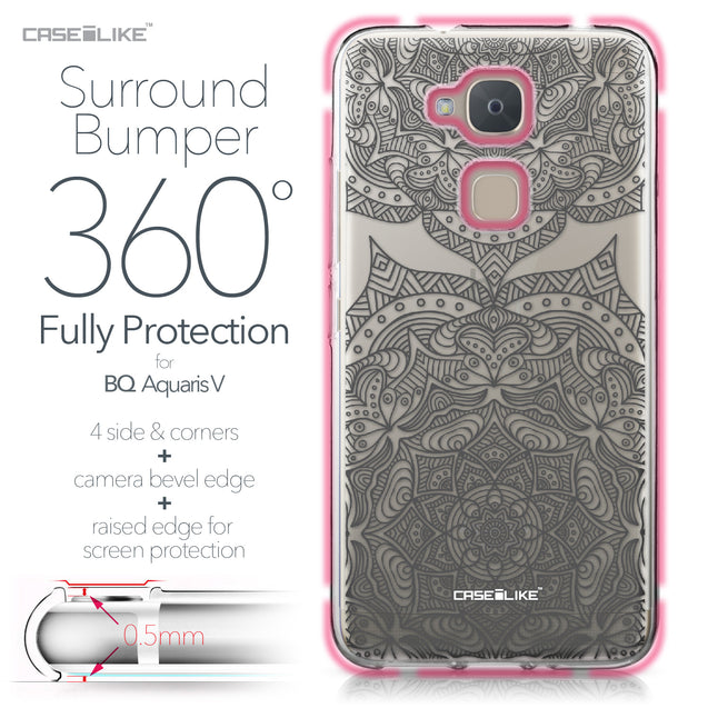 BQ Aquaris V case Mandala Art 2304 Bumper Case Protection | CASEiLIKE.com