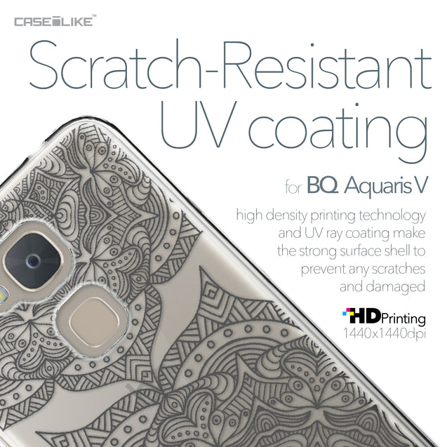 BQ Aquaris V case Mandala Art 2304 with UV-Coating Scratch-Resistant Case | CASEiLIKE.com