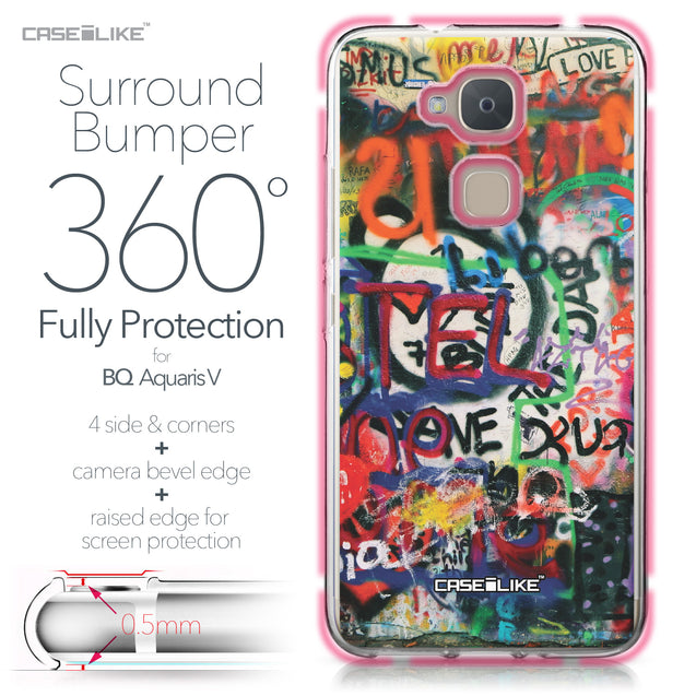 BQ Aquaris V case Graffiti 2721 Bumper Case Protection | CASEiLIKE.com