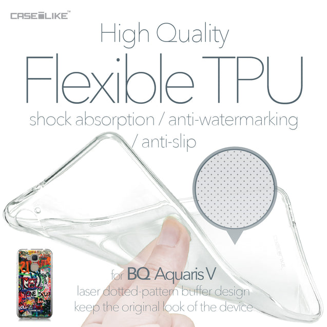 BQ Aquaris V case Graffiti 2721 Soft Gel Silicone Case | CASEiLIKE.com