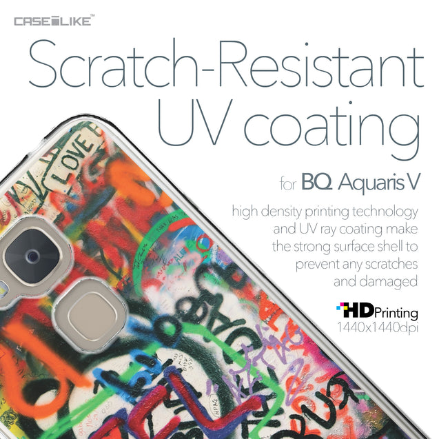 BQ Aquaris V case Graffiti 2721 with UV-Coating Scratch-Resistant Case | CASEiLIKE.com