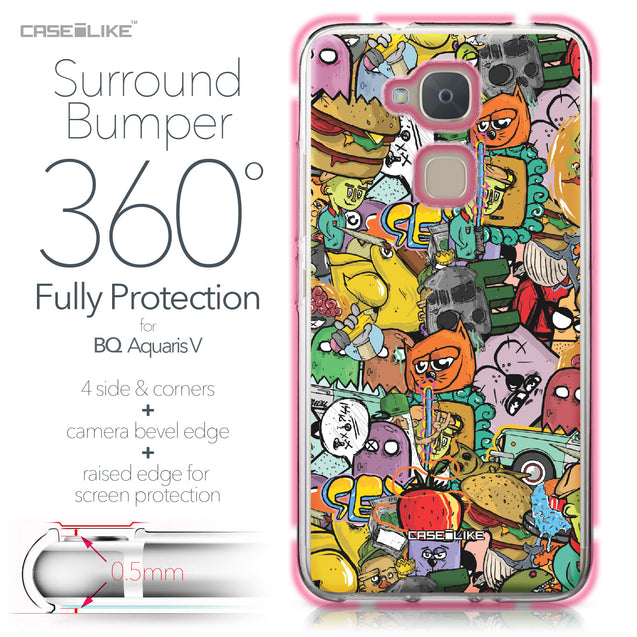 BQ Aquaris V case Graffiti 2731 Bumper Case Protection | CASEiLIKE.com