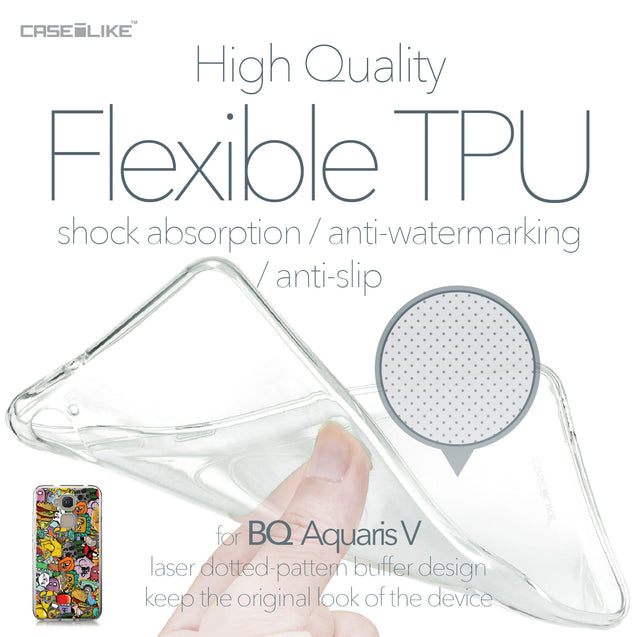 BQ Aquaris V case Graffiti 2731 Soft Gel Silicone Case | CASEiLIKE.com