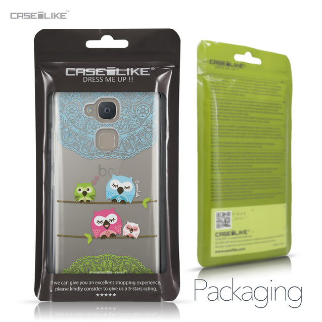 BQ Aquaris V case Owl Graphic Design 3318 Retail Packaging | CASEiLIKE.com