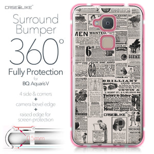 BQ Aquaris V case Vintage Newspaper Advertising 4818 Bumper Case Protection | CASEiLIKE.com