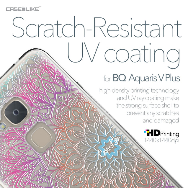 BQ Aquaris V Plus case Mandala Art 2090 with UV-Coating Scratch-Resistant Case | CASEiLIKE.com